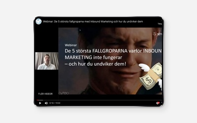 Fallgropar med Inbound Marketing