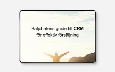 Säljchefens guide till CRM